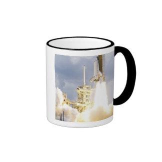 Space Shuttle Atlantis lifts off 2 Ringer Mug
