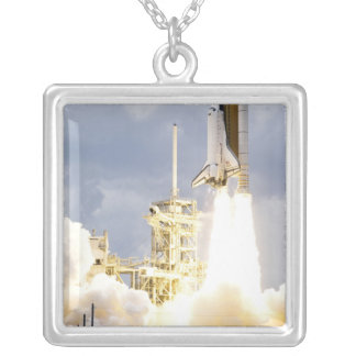 Space Shuttle Atlantis lifts off 2 Silver Plated Necklace