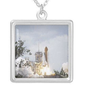 Space Shuttle Atlantis lifts off 3 Silver Plated Necklace