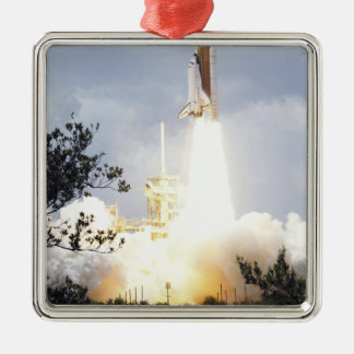 Space Shuttle Atlantis lifts off 4 Christmas Ornament
