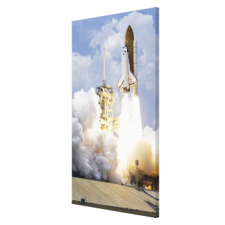 Space Shuttle Atlantis lifts off 5 Canvas Print