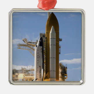 Space Shuttle Atlantis lifts off 5 Christmas Ornament