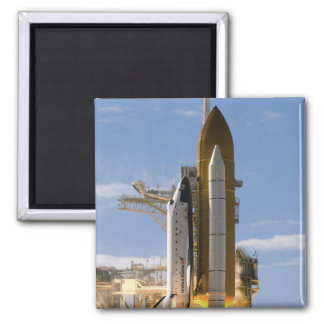 Space Shuttle Atlantis lifts off 5 Square Magnet