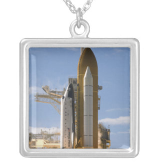 Space Shuttle Atlantis lifts off 5 Silver Plated Necklace