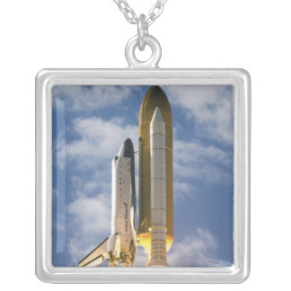 Space Shuttle Atlantis lifts off 6 Silver Plated Necklace