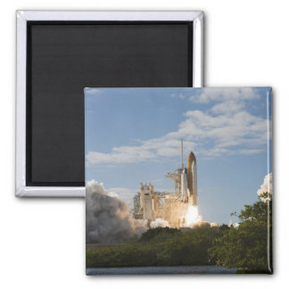 Space Shuttle Atlantis lifts off 7 Square Magnet