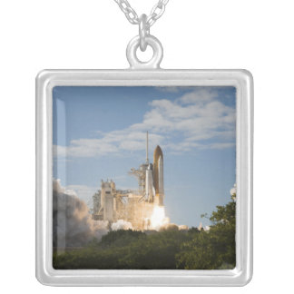 Space Shuttle Atlantis lifts off 7 Silver Plated Necklace