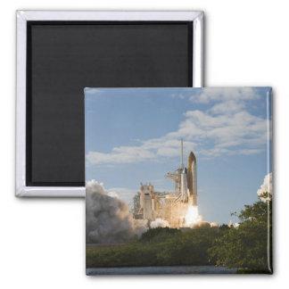 Space Shuttle Atlantis lifts off 7 Square Magnet