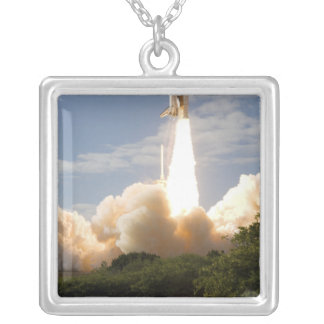 Space Shuttle Atlantis lifts off 8 Silver Plated Necklace