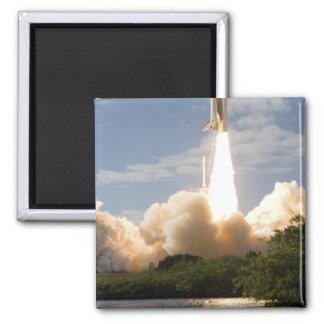 Space Shuttle Atlantis lifts off 8 Square Magnet