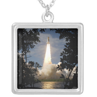 Space Shuttle Atlantis lifts off 9 Silver Plated Necklace