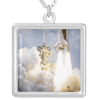 Space Shuttle Atlantis lifts off Silver Plated Necklace