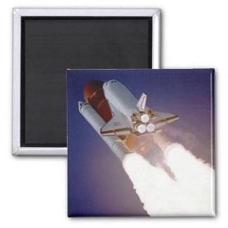 Space Shuttle Atlantis Square Magnet