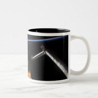 Space Shuttle Atlantis' payload bay Two-Tone Coffee Mug