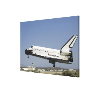 Space Shuttle Atlantis prepares for landing Canvas Print