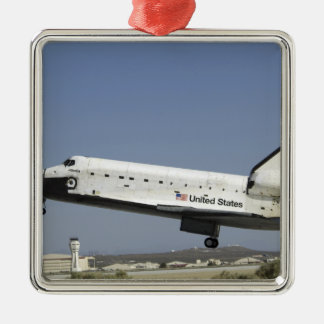 Space Shuttle Atlantis prepares for landing Christmas Ornament