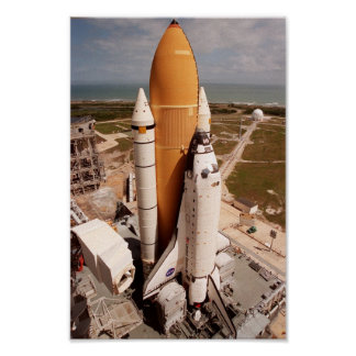 Space Shuttle Atlantis Prepares for Launch Poster
