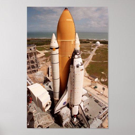 Space Shuttle Atlantis Prepares for Launch Poster