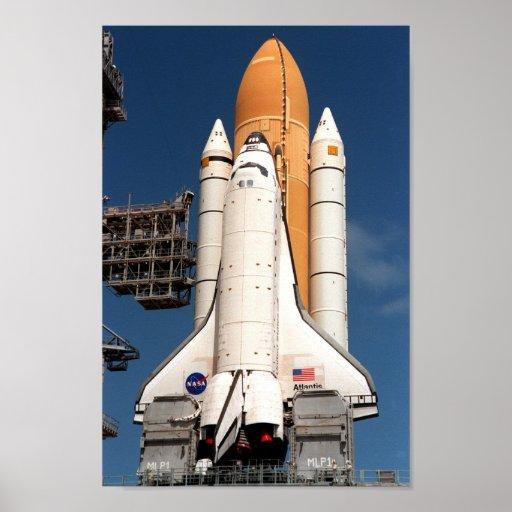 Space Shuttle Atlantis Prepares for Launch Print