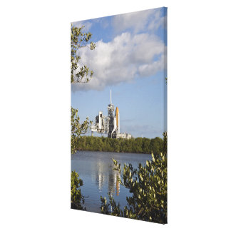 Space Shuttle Atlantis sits ready Canvas Print
