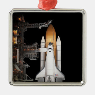 Space shuttle Atlantis sits ready Christmas Ornament