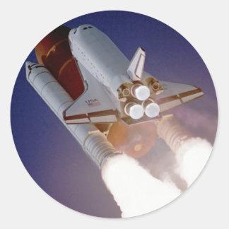 Space Shuttle Atlantis Round Stickers