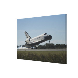 Space shuttle Atlantis touches down 2 Canvas Print