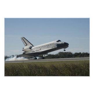 Space shuttle Atlantis touches down 2 Photograph