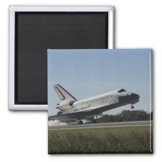 Space shuttle Atlantis touches down 2 Square Magnet