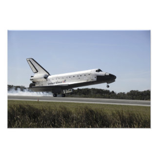 Space shuttle Atlantis touches down 3 Photographic Print