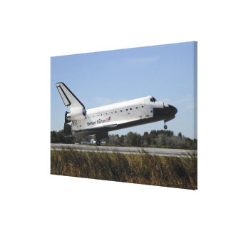 Space shuttle Atlantis touches down Canvas Print