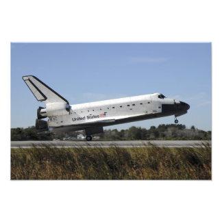 Space shuttle Atlantis touches down Photograph