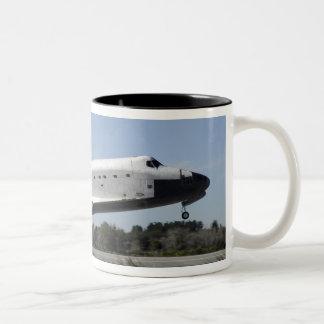 Space shuttle Atlantis touches down Two-Tone Coffee Mug