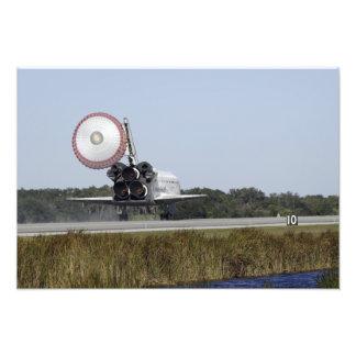 Space shuttle Atlantis unfurls its drag chute 2 Photo Print