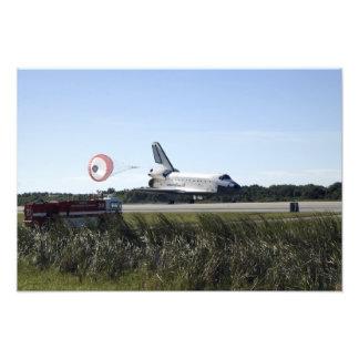 Space shuttle Atlantis unfurls its drag chute 3 Photo Print