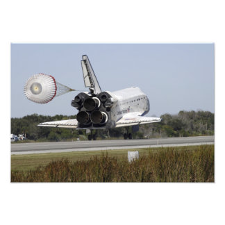 Space shuttle Atlantis unfurls its drag chute Photo Print