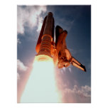 Space Shuttle Columbia Blasts Off Poster