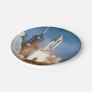 Space Shuttle Columbia launching 7 Inch Paper Plate