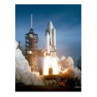 Space Shuttle Columbia launching Postcard