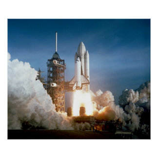 Space Shuttle Columbia launching Poster