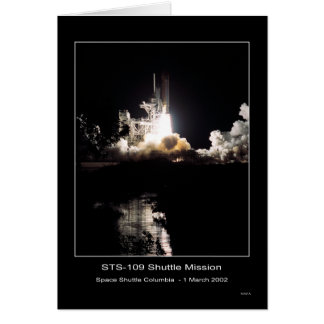Space Shuttle Columbia Lift-off – March 1, 2002 –  Greeting Card