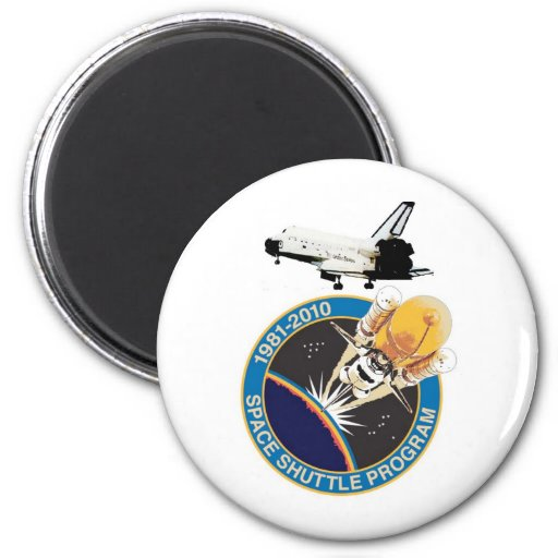 Space Shuttle Commemorative Final Flight Refrigerator Magnet