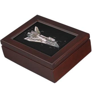 Space Shuttle Cutaway Keepsake Box