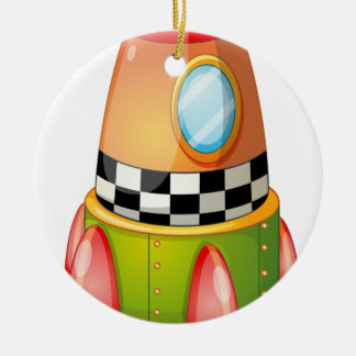 space shuttle Double-Sided ceramic round christmas ornament
