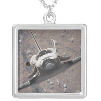 Space Shuttle Discovery 15 Silver Plated Necklace
