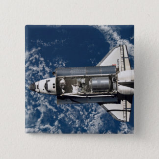 Space Shuttle Discovery 16 15 Cm Square Badge