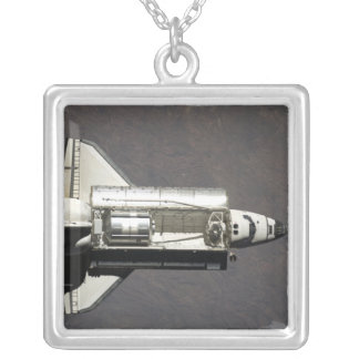 Space Shuttle Discovery 2 Silver Plated Necklace