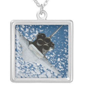 Space Shuttle Discovery 8 Silver Plated Necklace
