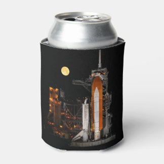 Space Shuttle Discovery and Moon Can Cooler