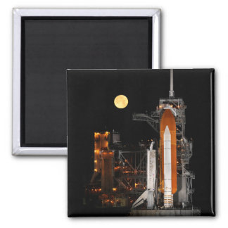 Space Shuttle Discovery and Moon Magnet